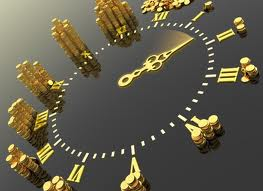 Clock with Gold Hands